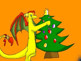 -CG- Decorate the Christmastree by NewMoon-Dragoness