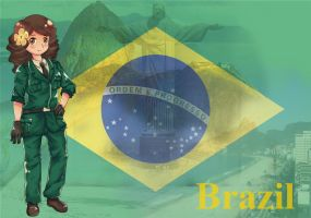 APH Brazil fan character by Miss-Panettone