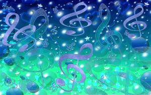 Sookie Blue Music Wallpaper 2 by sookiesooker