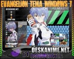 Rei Ayanami Theme Windows 7 by Danrockster