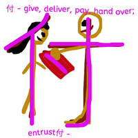 Chinese give, deliver, pay, hand over, entrust by Weatbix