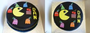 Pacman Cake by Rebeckington