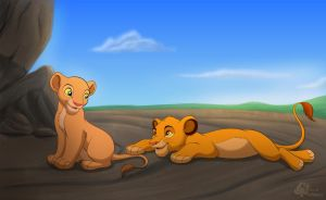 Simba And Nala by Miss-Melis