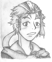 Practice Headshot- Firion by FatefulWings
