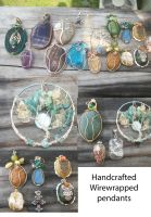 Wirewrapped pendants by WyckedDreamsDesigns