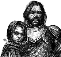 Arya and the Hound by Basmariki