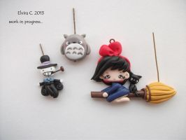 Studio Ghibli polymer clay charms by elvira-creations