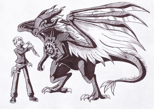 CDC June Day 15-16: Ken and his Dragon by StarMonyII