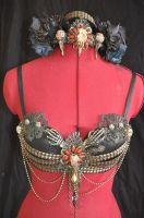 Fire Show Tribal Top and Headpiece by BeatriceBaumann