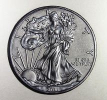 American Silver Eagle Coin drawing by DMartIT