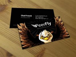 Peerfly Business Card by SOSFactory