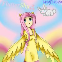 Humanized Fluttershy by Wolf34324