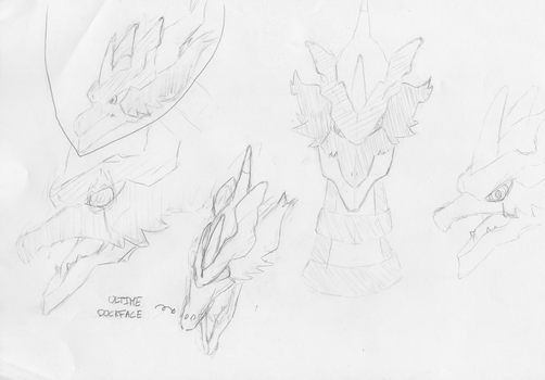 First sketches - Vahirom, the original dragon by BalignonEmperor