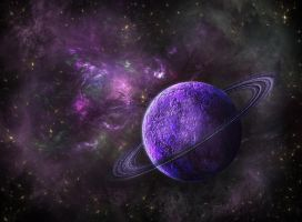 Purple Planet by marinaawin