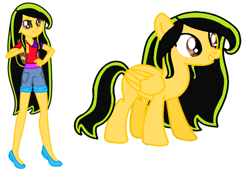 Star Flame (My MLP OC: Human and Pegasus) by GamerGurl36