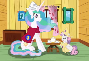 MLP: Tea Party by Captain-Marvelous