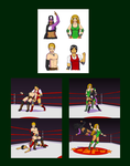 Professional Wrestlers from Brian and ZK by White-Rose-Brian