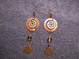 Gear ear ring set two by Fallonkyra