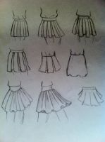 Quick Sketch - Skirts by AnimeLover00001