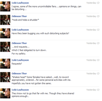 Thor and Loki FB convo 2 by JadenTheFangirl