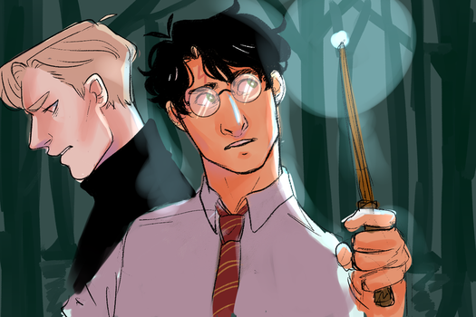 harry and draco wip by robees