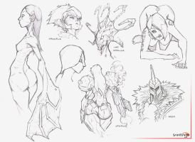 Sketch-Set-1 by Pertheseus
