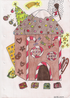 Gingerbread House by xNiciCupcake