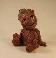 Baby Groot Sculpture by dragonbaba
