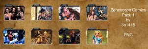 Zenescope Comics Folder Pack by 3o1415