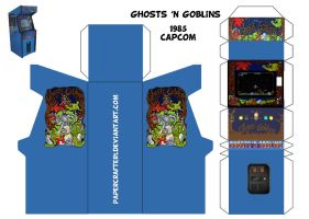Ghosts N Goblins Papercraft Arcade Template by Papercrafter1