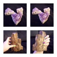 Geodes #3 + Petrified Wood by SupernovaSword