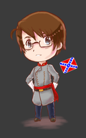 APH- A Confederate Chibi- Redux by tarateme