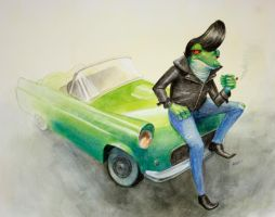 Greaser Frog by Ah-Leeza