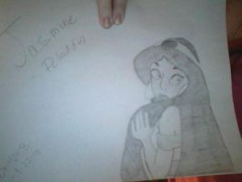 Jasmine Drawing - Request By MissPandaDisney by Angelicsweetheart