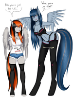 Commission: Smol And Tol by CannonCar