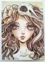 Little Dove ATC by KelleeArt