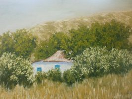 House at the foot of the hill by YarriK40Simf
