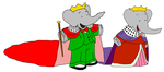 King Babar and Queen Celeste - Kids - Mantles by KingLionelLionheart