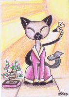 Oriental Siamese funny cat by KingZoidLord