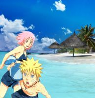 amor a la playa by Bleach-Fairy