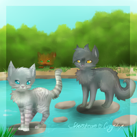 Graystripe and Silverstream by chocobeery