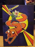 Finn and Jake - Adventure Time by Whammeh