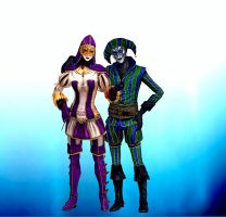 hellequin and  harlequin by LadyFox854