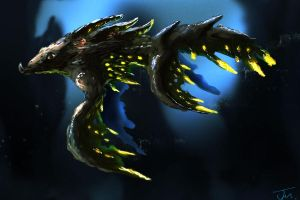 Fish creature by Jakeaferr