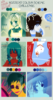 [RPG Maker Characters!] Colour Scheme Challenge by SnowingCandy