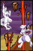 Mewtwo vs Frieza by bwingbwing