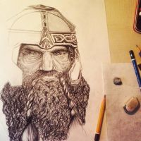 Work in progress - Gimli Fanart  Lord of the Rings by Angesik