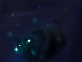 Night Cat by Kiwiscos