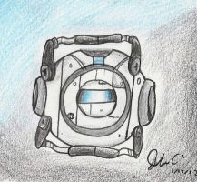 Wheatley stares at you....weirdly. by Starway09