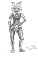 Ahsoka Pose Practice Sketch by Chrisily